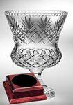 Custom Raleigh Trophy Vase on a Rosewood Base - Lead Crystal (15