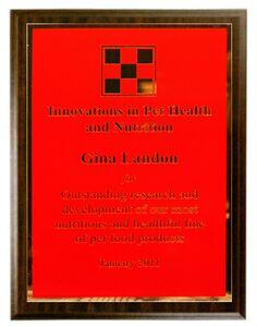 Walnut Veneer Economy Plaque w/ Red Classic Series Plate (12x9x5/8)