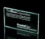 Custom Business Card Paperweight - Starfire Glass (1/4