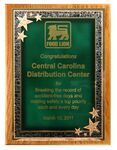 Custom Solid Oak Plaque w/ Green Seeing Stars Series Plate (9