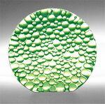 Custom Celery Green Raindrop Preservation Award - Recycled Glass