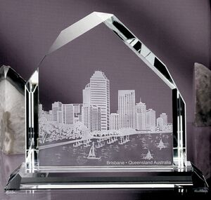 Dartmoor Peak Award - Jade Glass (10 3/4x12x4)