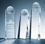 Golf Ball Tower Award - Optic Crystal (9