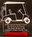 Golf-Cart-Mania Award on a Rosewood Base - Acrylic