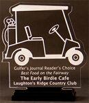 Golf-Cart-Mania Award on a Black Base - Acrylic