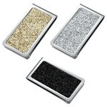Custom Stainless Steel Money Clip w/ Black, Silver or Gold Glittering Pattern