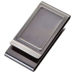Gun Metal Stainless Steel Two Sides Money Clip