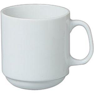 12 Oz White Porcelain Plain Stacking Mug 4844 Ideastage Promotional Products