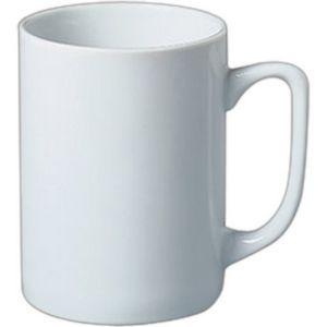 11 Oz White Porcelain Plain Straight Sided Mug 4845 Ideastage Promotional Products