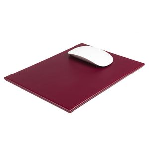 Custom Bonded Leather Burgundy Red Mouse Pad