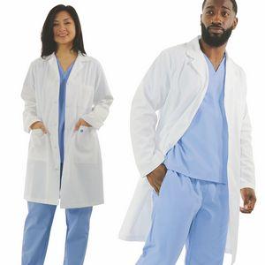 40 Unisex Antimicrobial White Lab Coat