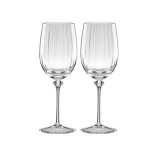 REED & BARTON Austin Crystal White Wine Set of 2