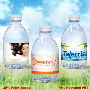 8 oz. Custom Label Spring Water w/ Flat Cap - Clear Bullet ECO Bottle