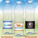 Custom 16.9 oz. Custom Label Spring Water w/ Flat Cap - Clear ENVI Bottle