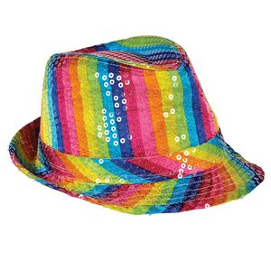 0a38c407ffc Sequined Rainbow Fedora Hat - 1-12193 - IdeaStage Promotional ...