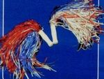 Red, White & Blue Pom Poms