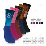 Custom COLOR FOOT ATHLETIC SOCKS with Your Color Full Color Design TOP - Imprint in USA