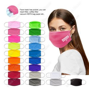 Pure Color Moisture Wicking Face Mask with Filter Pocket
