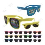 Full Color Solid Frame Cool Lens Promotional Sunglasses