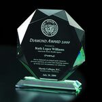 Custom Diamond Crystal Award (8 3/4