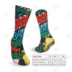 Custom Fully printable 3oz All full color design socks - Imprint in USA
