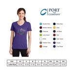 Custom Port & Company 4.5oz Ladies Performance Blend V-Neck Tee