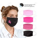 Custom Pink Color Moisture Wicking Face Mask with Filter Pocket