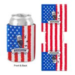 Custom Flag Design Sublimated Collapsible Can Cooler