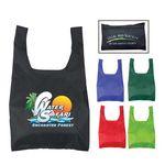 Custom Nylon Foldable Shopping Tote Bag (Full Color Process)