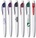 Custom Oak Retractable Pen w/ White Barrel