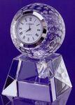 60 Mm Optical Crystal Golf Ball Clock Award