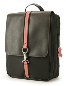 Paris Backpack - Black with Pink Trim - MEBPWX - IdeaStage Promotional  Products f93c3eb5a60