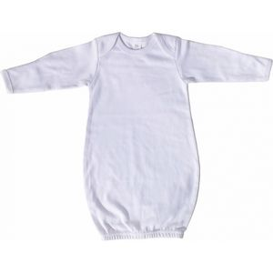 Custom White Interlock Infant Gown