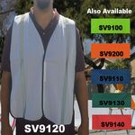 Custom Economy White Mesh Safety Vest