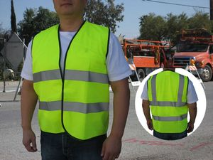ANSI/ISEA 107-2004, Class 2 Neon Green Safety Vest