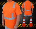 Custom ANSI 107-2010 Class 2 Safety T - Neon Orange