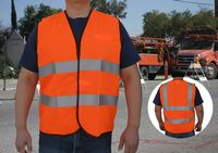 ANSI/ISEA 107-2004 Class 2 Orange Safety Vest