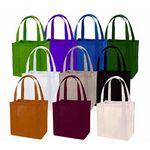 Custom Non Woven Tote Bag w/ Plastic Bottom Insert (12