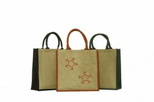 All Natural Convention Jute Burlap Tote Bag w  Rope Handles - 14