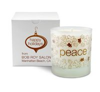 11 Oz. Peace Holiday Candle - Frosted Tumbler