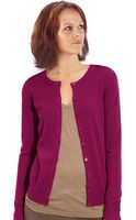 Custom Colors Women's Crew Neck Cardigan. Cotton. Fine Gauge. Made in USA