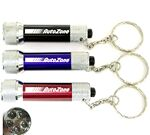 Custom 5 LED Metal Flashlight with Swivel Keychain