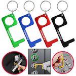 Custom PPE Hygiene Door Opener Closer No-Touch w/ Key Chain