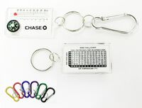Compass/ Thermometer Keychain with Carabiner & Wind Chill Chart
