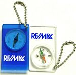 Custom Compass Keychain w/ Bead Chain