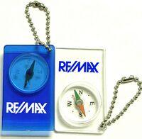 Compass Keychain w/ Bead Chain