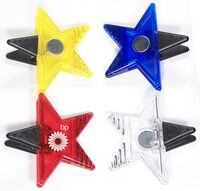 Jumbo Size Star Magnetic Memo Clip with Strong Grip