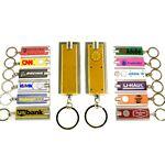 Custom Mini Flash Light with Super Bright LED & Swivel Key Chain (Gold)