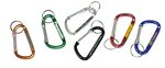 Custom Large Size 7 Cm Carabiner with Split Key Ring