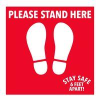 PPE Floor Decal, 6 Ft Apart Social Distance Sticker